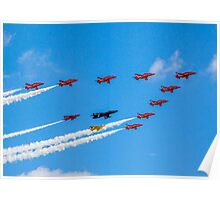 Red Arrows 50th Anniversary Formation Poster