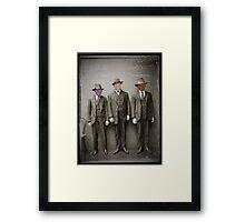 Three Criminals Arrested Framed Print