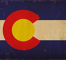 Colorado State Flag VINTAGE by carolinaswagger