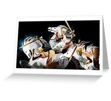 Three warriors Greeting Card