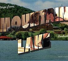 Mountain Lake, VA Vintage Post Card by canossagraphics
