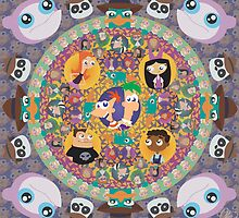 Phineas and Ferb Mandala by mimiranger