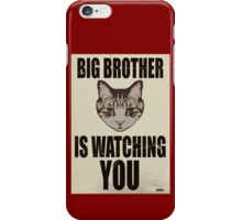 Orwellian Cat is Watching You iPhone Case/Skin