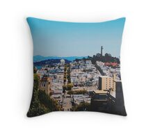 Lombard St Throw Pillow