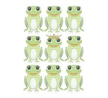 1 Heavy Crown & 9 Frogs by Jean Gregory  Evans