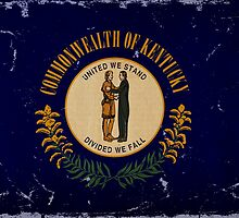 Kentucky State Flag VINTAGE by carolinaswagger
