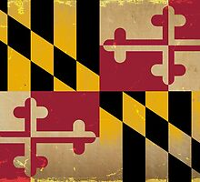 Maryland State Flag VINTAGE by carolinaswagger