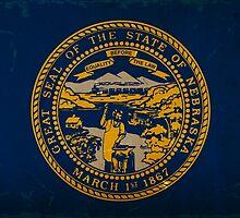 Nebraska State Flag VINTAGE by Carolina Swagger
