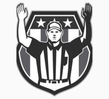 American Football Official Referee Grayscale T-Shirt