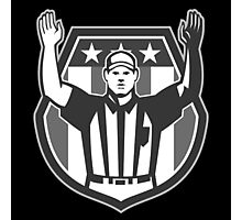 American Football Official Referee Grayscale Photographic Print