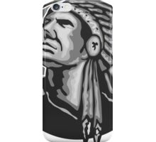 Native American Indian Chief Grayscale iPhone Case/Skin