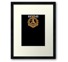 Role of the Infantry for light shirts Framed Print