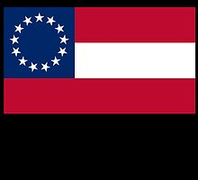 Stars & Bars; USA; First American National Flag; 13 stars; 1861 by TOM HILL - Designer
