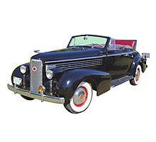 Black 1938 Cadillac Lasalle Antique Car Photographic Print
