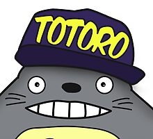 Totoro In Snapback by Isaac Simmons