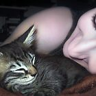 Kitten Snuggles - Self Portrait w/Mikino by Jaeda DeWalt