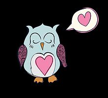 Sleeping Blue Love Owl by kwg2200