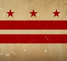 Washington DC Flag VINTAGE by carolinaswagger