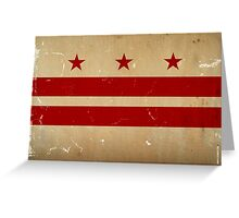 Washington DC Flag VINTAGE Greeting Card