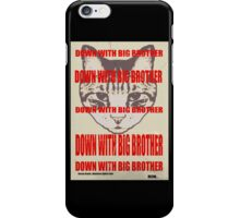 Orwellian Cat: Down With Big Brother iPhone Case/Skin