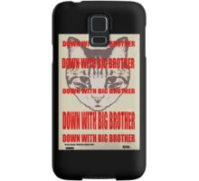 Orwellian Cat: Down With Big Brother Samsung Galaxy Case/Skin