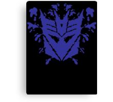 Decetiblot (blue) Canvas Print