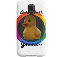 Polygon art : Quack Quack MotherFucker Samsung Galaxy Case/Skin