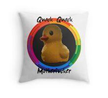 Polygon art : Quack Quack MotherFucker Throw Pillow