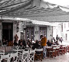 Restaurant Greek style by visualimagery