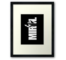 Mirin. (version 2 white) Framed Print