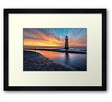 Lighthouse Sunset Framed Print