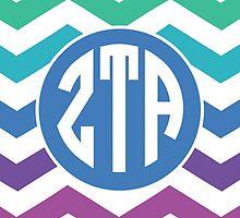 zeta tau alpha monogram chevron by lordofthefries