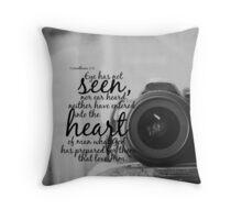 No Eye Has Seen Throw Pillow