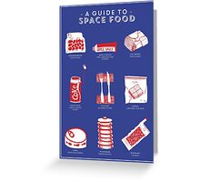 A Guide to Space Food Greeting Card