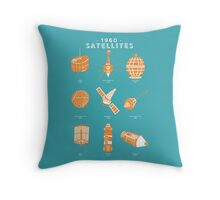 1960s Satellites Throw Pillow
