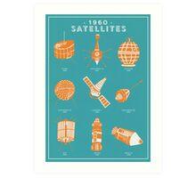 1960s Satellites Art Print