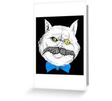Evil Cat #1 Greeting Card