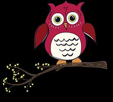 Red Cartoon Owl by kwg2200