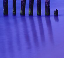 Reflections in blue by JBlaminsky
