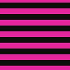Pink and Black Banded Design  by Sookiesooker