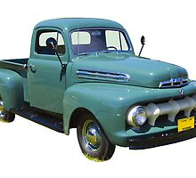 1951 ford F-1 Antique Pickup Truck by KWJphotoart
