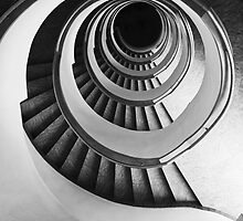 Concrete spirals in black and white by JBlaminsky