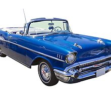 1957 Chevrolet Bel Air 2-door Convertible by KWJphotoart