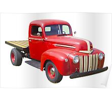 1947 Ford Flat Bed Antique Pickup Truck Poster