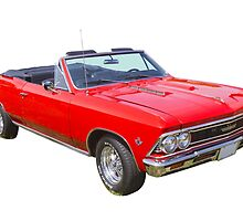 1966 Chevrolet Chevelle Convertible 283 Muscle Car  by KWJphotoart