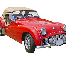 1957 Triumph TR3 Convertible Sports Car by KWJphotoart