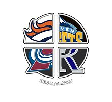 Denver Pro Sports TETRAlogy! Broncos, Nuggets, Avalanche and Rockies by SplitDecision