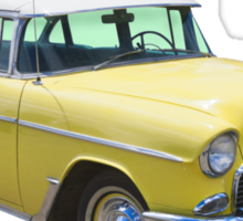 Yellow 1955 Chevrolet Bel Air Classic Car Sticker