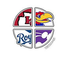 Kansas TETRAlogy! Chiefs, Royals, Jayhawks and Wildcats by SplitDecision