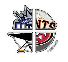 San Francisco Pro Sports TETRAlogy! 49ers, Giants, San Jose Sharks and the Sacremento Kings by SplitDecision